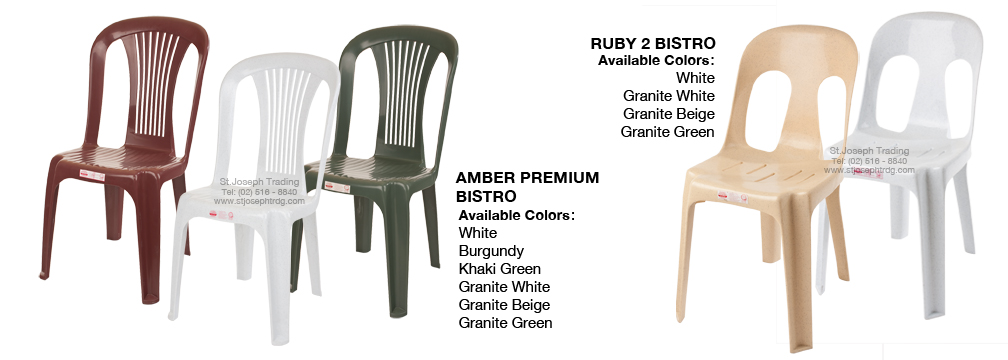 Cofta Ruby and Amber Bistro Chairs