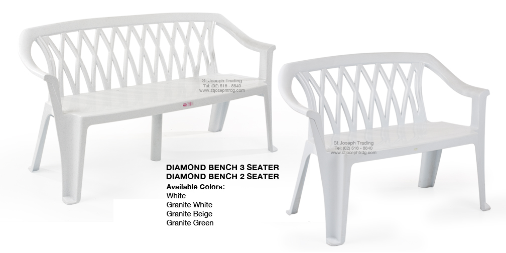 DIAMOND BENCH 3 SEATER AND 2 SEATER
