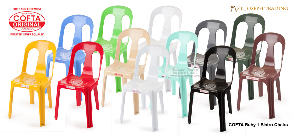 COFTA Original Chairs in various designs and colors.