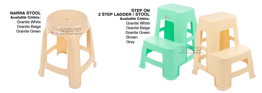 Narra Stool 2 step ladder stool
