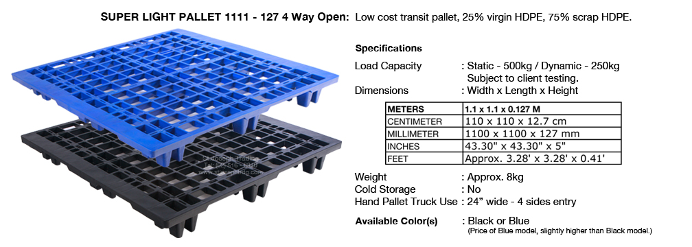 Super Light Pallet 1111 - 127 4 Way Open
