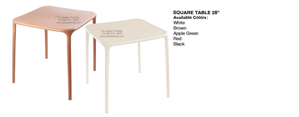 COFTA MONOBLOC Square Table Monotop
