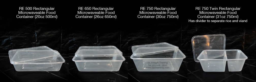 Microwaveable Food Containers Rectangular