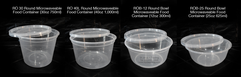 Microwaveable Food Containers Rectangular Round