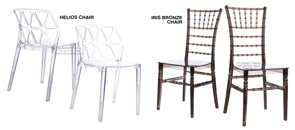 Iris and Helios Chairs