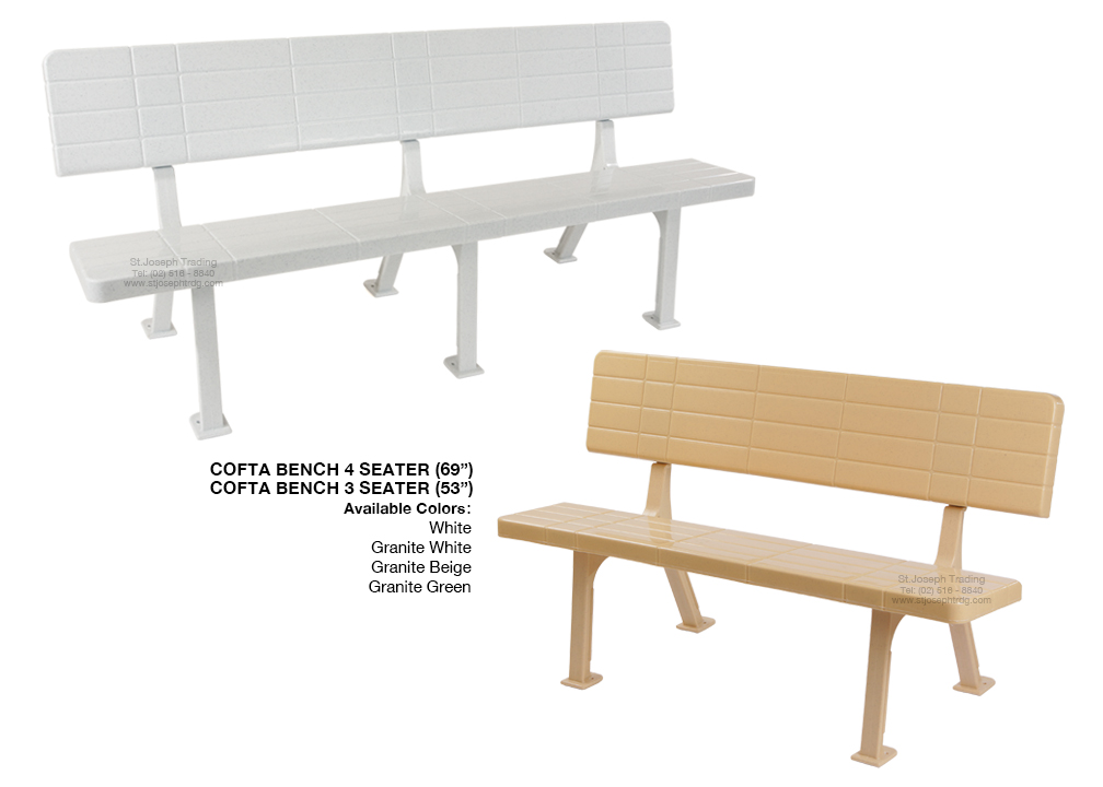 COFTA BENCH 4 SEATER