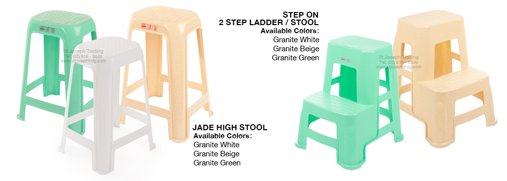 Jade High Stool and 2 step ladder Stool